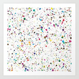 80s RAINBOW SPLATTER PAINT PATTERN Art Print
