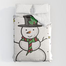 Snowman and the stars Comforters