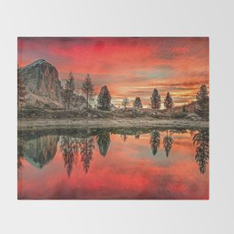 Lake in Italy Throw Blanket