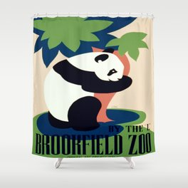Vintage poster - Brookfield Zoo Shower Curtain