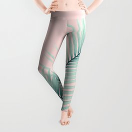 Intertwined - Palm Leaves in Love #2 #tropical #decor #art #society6 Leggings