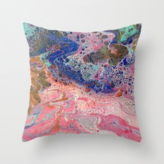 Flamingos by the Sea Throw Pillow