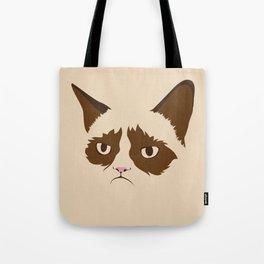 Grumpy Cat, Minimalist in Four Colors Tote Bag