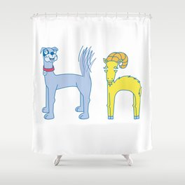 H Uppercase/Lowercase Pair, no border Shower Curtain