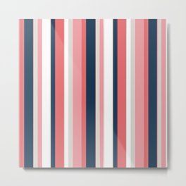 Non stop vertical seamless pattern vintage pop wall art print Metal Print