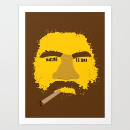 Coen Brother's Raising Arizona Art Print