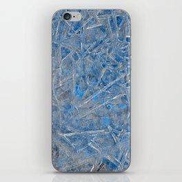 Blue Ice Texture iPhone Skin