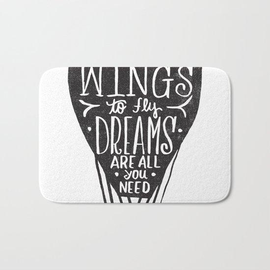 wings & dreams Bath Mat