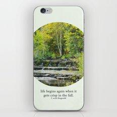 fall leaves + f scott fitzgerald iPhone & iPod Skin
