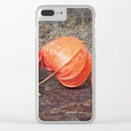 Fall colors with the winter cherries Clear iPhone Case
