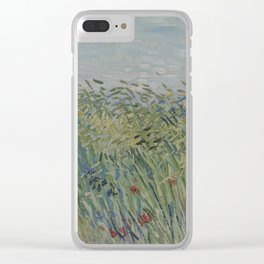 Wheatfield with Partridge Clear iPhone Case