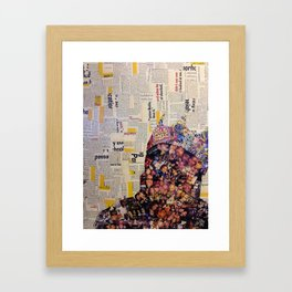 Chopped and Glued - Biggie Crown Framed Art Print