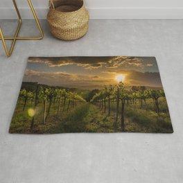 Vineyard Sunset, Tuscany, Italy Rug
