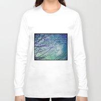 poem Long Sleeve T-shirts featuring Favorite Poem... by Julia Kovtunyak