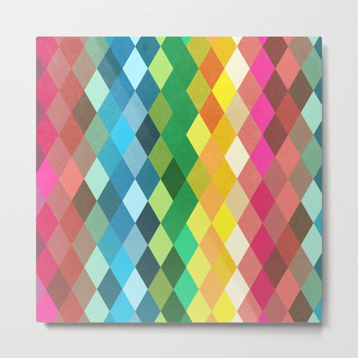 Diamond Color Spectrum Pattern Metal Print