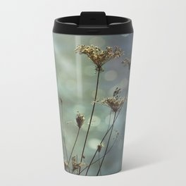 Queen Anne's Lace on Bokeh Background Metal Travel Mug
