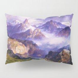 Index Peak, Yellowstone, Wyoming landscape alpine painting by Thomas Moran Pillow Sham