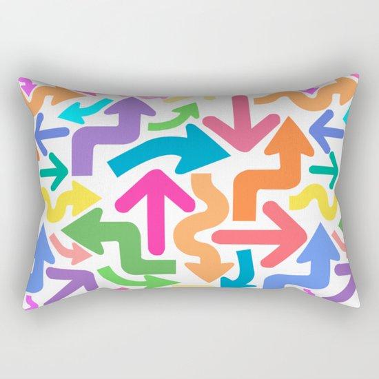 Arrow color Rectangular Pillow