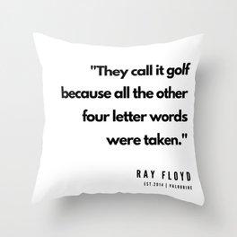 19  | Golf Quotes | 190606 Throw Pillow