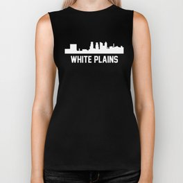 White Plains New York Skyline Cityscape Biker Tank