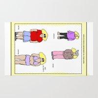 bikini Area & Throw Rugs featuring bikini babe! by gasponce