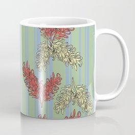 Striped Australian Floral Print Coffee Mug