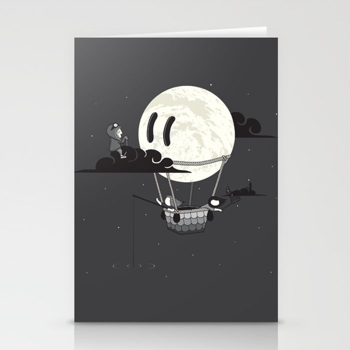 You Should See The Moon In Flight Stationery Cards