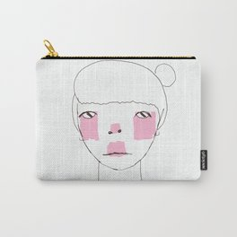 Line Drawing of Girl with Bun  Carry-All Pouch