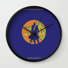 EGYPT (CHAINS ARE ON) - DIO - JOJO Wall Clock