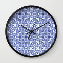 Lines and Shapes - Dutch Blue Wall Clock