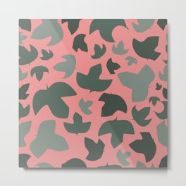Ivy on pink Metal Print