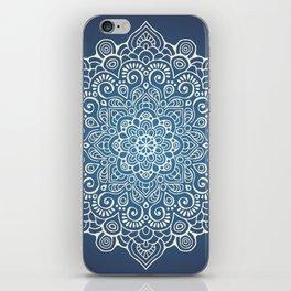 Mandala dark blue iPhone Skin