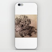 poodle iPhone & iPod Skins featuring poodle by The Traveling Catburys