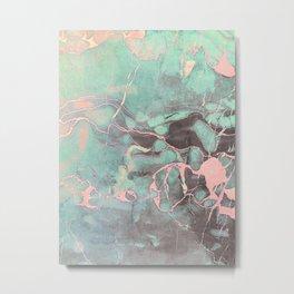 Delicate Shadow Marble Metal Print