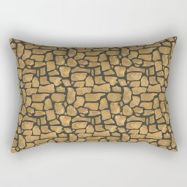 Abstract pattern . Stones . Rectangular Pillow