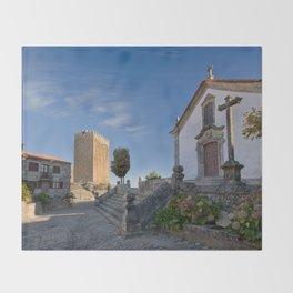 Linhares castle, Portugal Throw Blanket