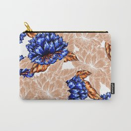 Floral Background Carry-All Pouch