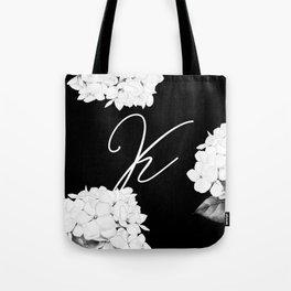 "Letter ""K"" Monogram Tote Bag"