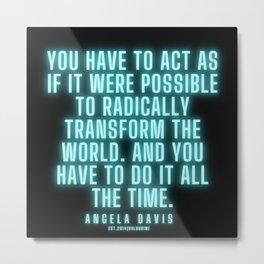 1    |  Angela Davis | Angela Davis Quotes |200814 Metal Print