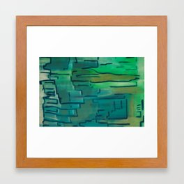 Shades of Green Framed Art Print