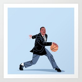 Martin Plays Basketball Art Print