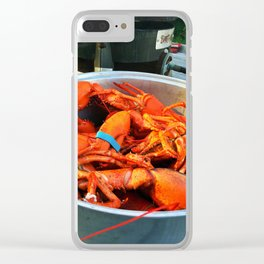 Maine Lobster Pot (3) Clear iPhone Case