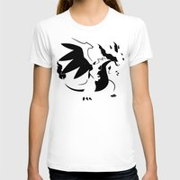 charizard T-shirts featuring Charizard Mega X by Ruo7in