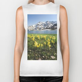 yellow flowers Biker Tank