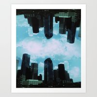 houston Art Prints featuring Houston, by LUCJPG