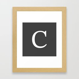 Very Dark Gray Basic Monogram C Framed Art Print
