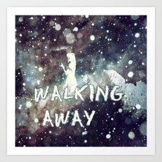Walking Away Art Print
