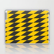 Slanted Checkers Black & Yellow Laptop & iPad Skin