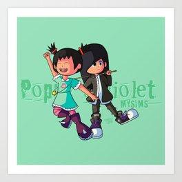 Poppy and Violet Art Print