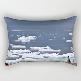 Icebergs on a Calm Sea Rectangular Pillow